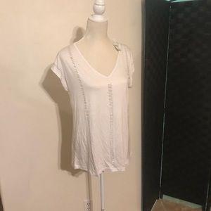 🎉SALE NY&Co white top w/ rhinestones NWT!!! SZ S